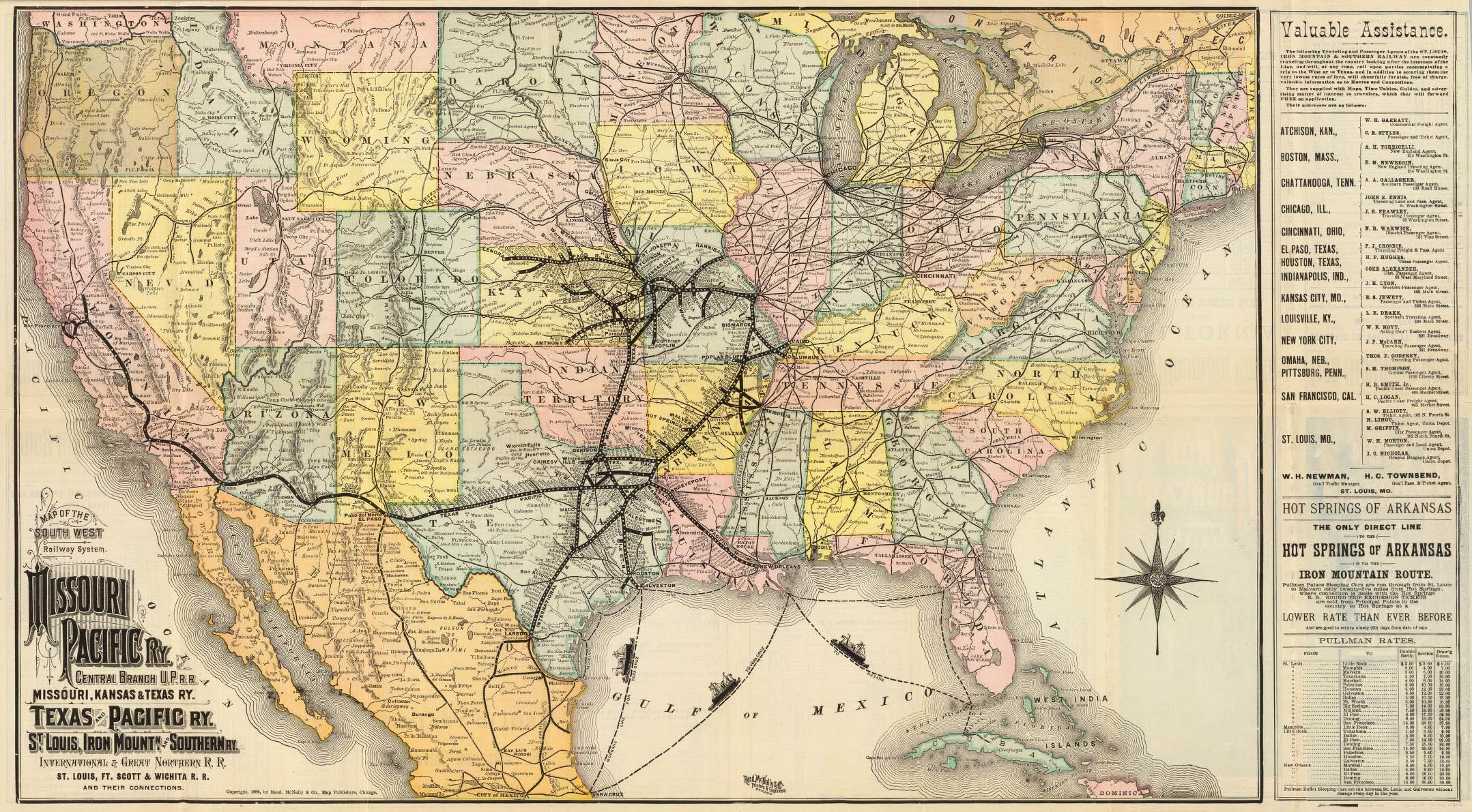 Comes To Parker County - Railroad map us 1880