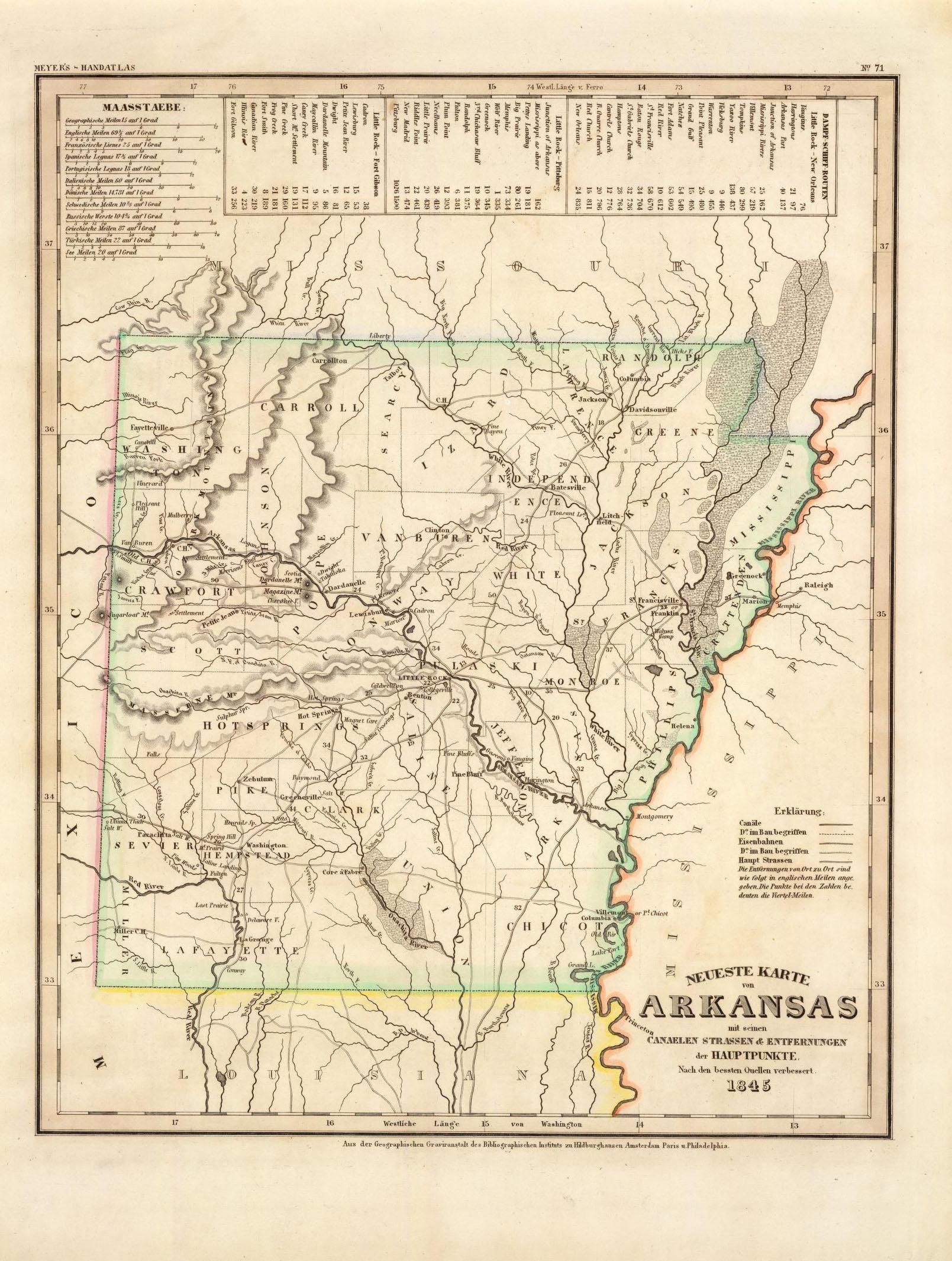 Old Arkansas Maps Arkansaw Traveler - Arkansas maps